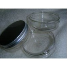 PET Clear 50ml Jar with White Lid x 1