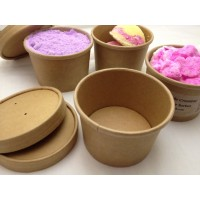 Kraft 8oz Tubs x 5 with Lid