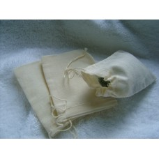 Bath Milk or Tea bags Unbleached Cotton x 10